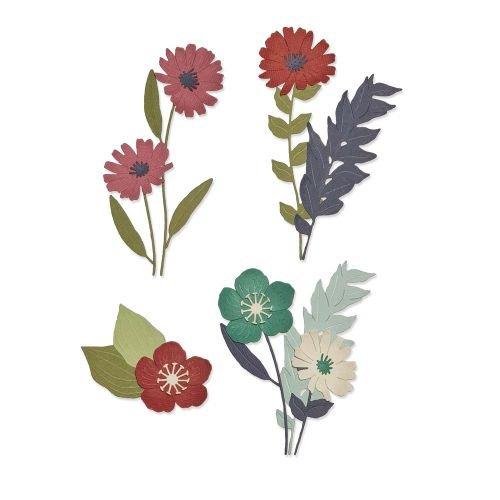 Sizzix Thinlits Die Set 13PK - Wild Blooms #1