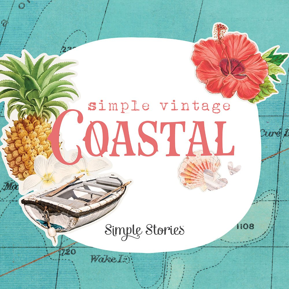 Mystery Monday Kit #63 Simple Stories Coastal Flipbook Album Kit