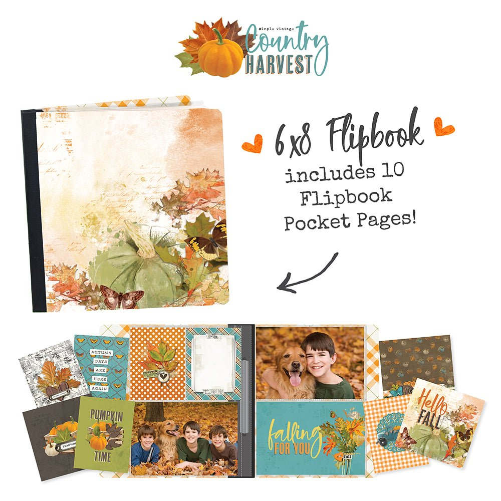 Simple Stories Country Harvest Flipbook Kit to Go