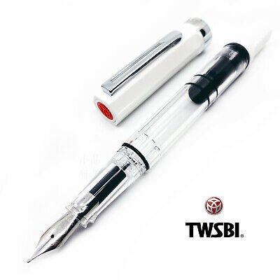 Twsbi Eco White Fountain Pen-Medium Nib