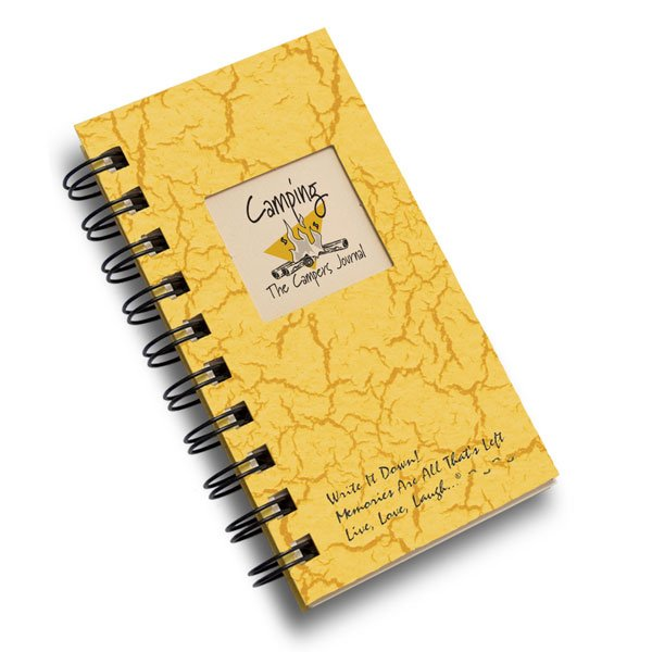 Camping - A Campers Mini Journal - Sunset Yellow