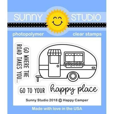Sunny Studio-Happy Camper Stamp