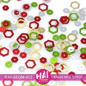 HAI-hexagon christmas sequins