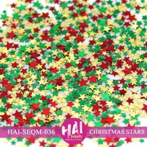 HAI-Christmas Stars Sequins