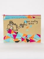 Blue Q-You Crafty Bitch Jumbo Pouch