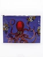 Blue Q-Octopus Jumbo Pouch