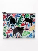 Blue Q-Here Kitty Zipper Pouch