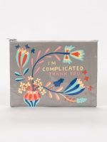 Blue Q-I'm Complicated. Thank You Zipper Pouch