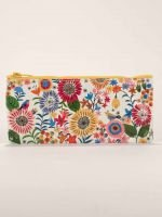 Blue Q-Flower Field Pencil Case