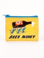 Blue Q-Beer Money Coin Purse