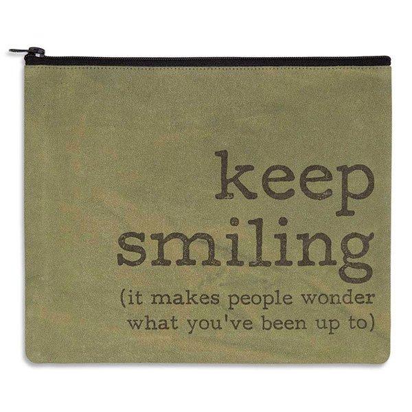 Keep Smiling Travel Bag-Canvas