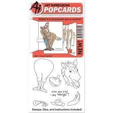Art Impressions-horse pop card stamp die