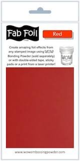 Wow red fab foil