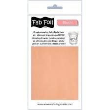 Wow blush fab foil