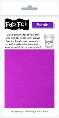 Wow purple fab foil