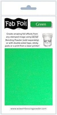 Wow green fab foil