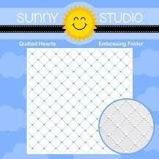 Sunny Studio Quilted Hearts embossing folder