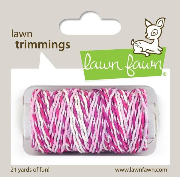 Lawn Fawn Trimmings Pretty in Pink Sparkle Cord
