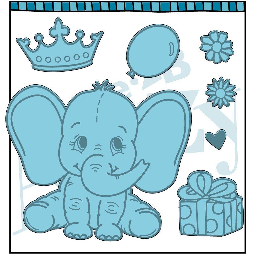 Dare 2B Artzy Baby elephant Metal Dies