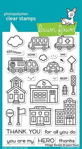Lawn Fawn Village Heroes Clear Stamp