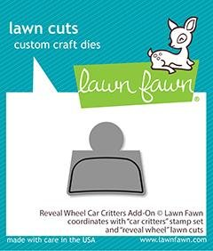 Lawn Fawn Reveal Wheel Car Critters add on Metal Die