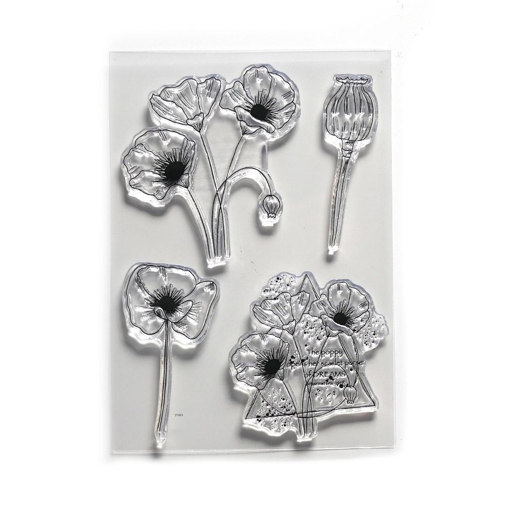 Elizabeth Craft Stamp Poppy Dream