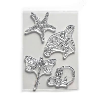 Elizabeth Craft Stamp Water Creatures