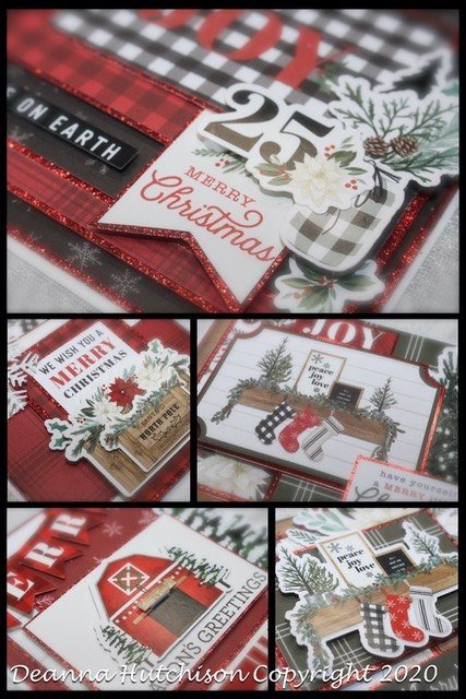 Rustic Christmas Virtual Card Class Kit taught by Deanna