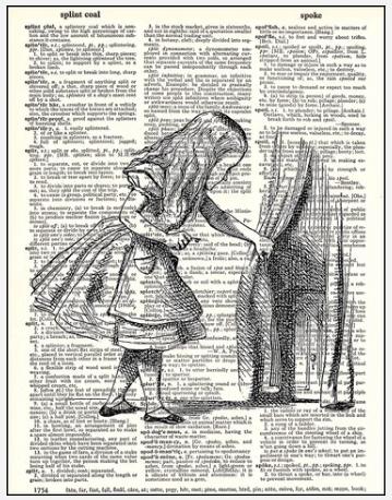 Dictionary Prints Alice and Door