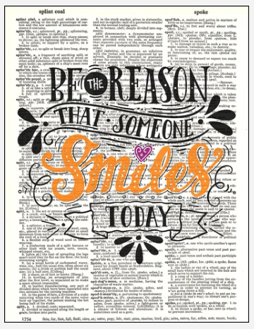 Dictionary Prints Make Someone Smile