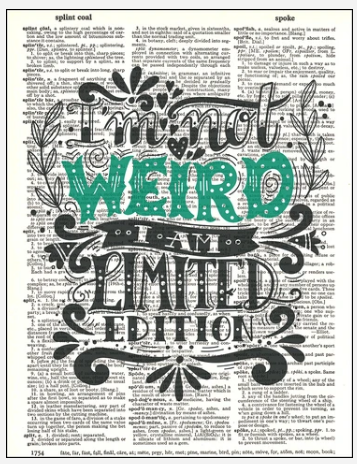 Dictionary Prints Typography Not Weird