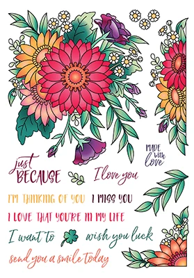 LDRS Creative Crazy for Daisies Stamp