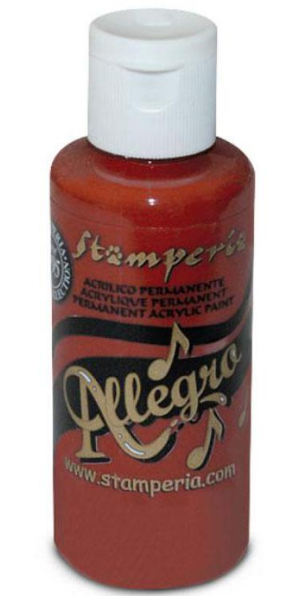 Stamperia Allegro Paint 59ml Brick Red Mattone