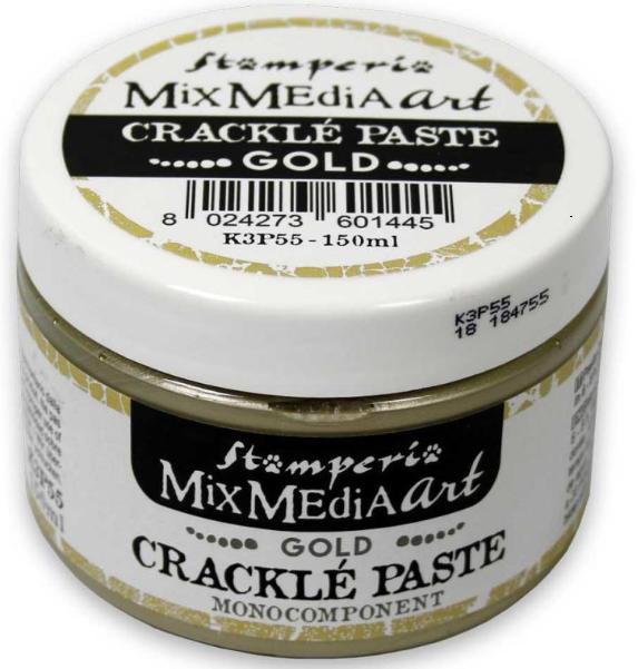 Stamperia Crackle Paste Gold 150 ml