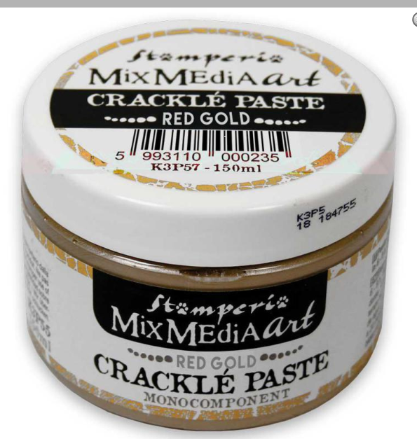 Stamperia Crackle Paste Red Gold