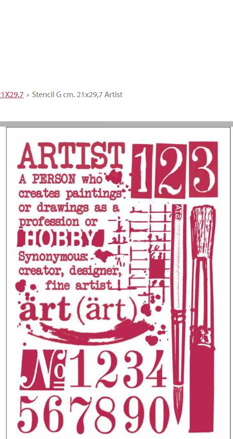 Stamperia Artist Stencil