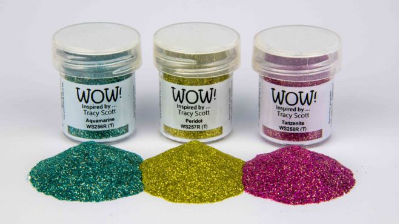 Wow Trio Gemstone Embossing Powder Tracy Scott