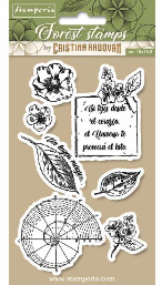 Stamperia Cling Rubber Stamps 3.94X6.5-Botanical