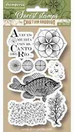 Stamperia Cling Rubber Stamps 3.94X6.5-Fish