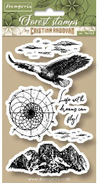 Stamperia Cling Rubber Stamps 3.94X6.5-Eagle
