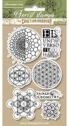 Stamperia Cling Rubber Stamps 3.94X6.5-Sacred Geometry
