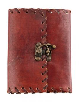 Plain Leather Journal 3.5 x 5 with metal closure