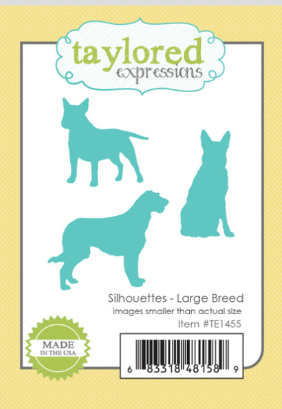 Taylored Expressions Silhouettes Large Breed Dog Metal Dies