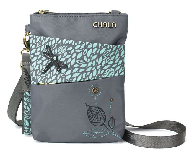 Chala Dragonfly Gray Cell Phone crossbody