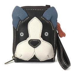 Chala Boston Terrier Credit card Holder Wallet Wristlet