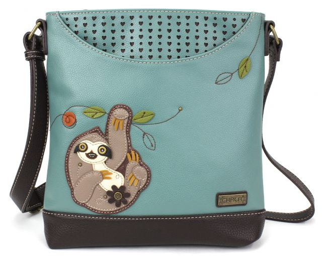 Chala Sloth Sweet Messenger Purse