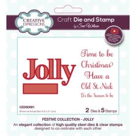 Dies by Sue Wilson Festive Jolly Die & Stamp Set