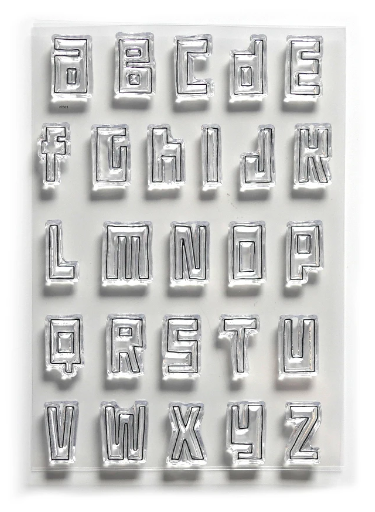 Elizabeth Craft Stamp Block Alphabet