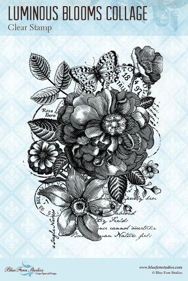 Blue Fern Radiance Stamp Luminous Blooms