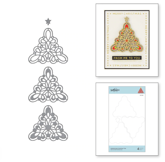 Spellbinders Kaleidoscope Christmas Tree Etched Dies from Sparking Christmas Collection